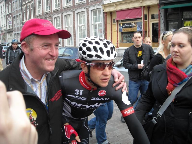 2009 Amstel, Carlos Sastre aan de start.