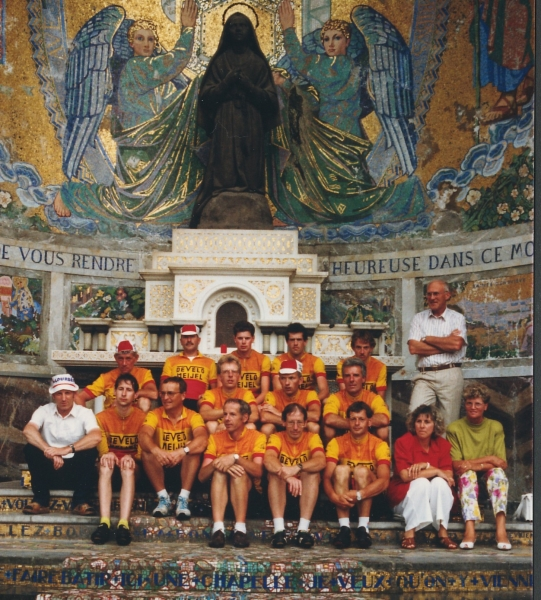 1990 met TWC DE Velo naar Lourdes