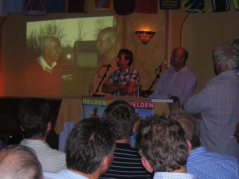 2007, Brabants wielercafe met Johan  vd.Velde
